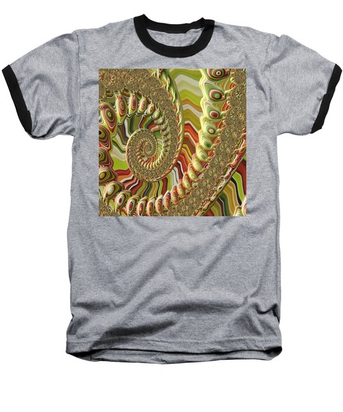 Baseball T-Shirt featuring the photograph Spiral Fractal by Bonnie Bruno