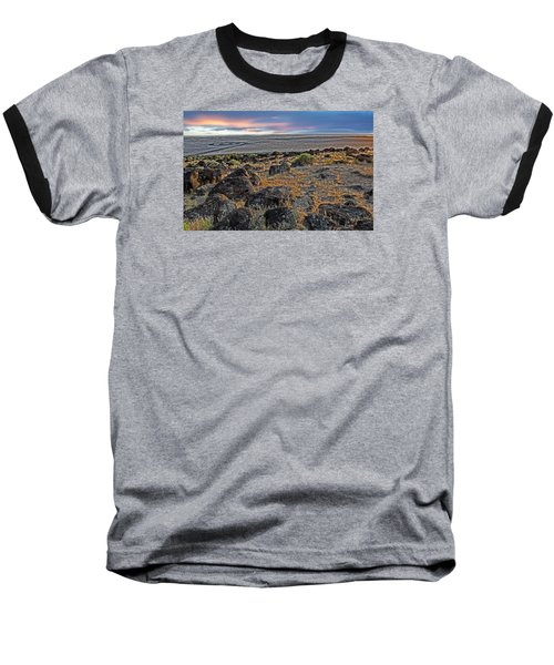 Spiral Jetty Baseball T-Shirt