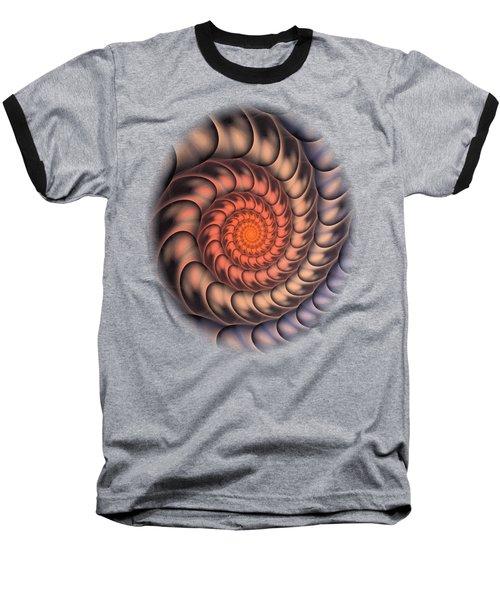 Spiral Shell Baseball T-Shirt by Anastasiya Malakhova