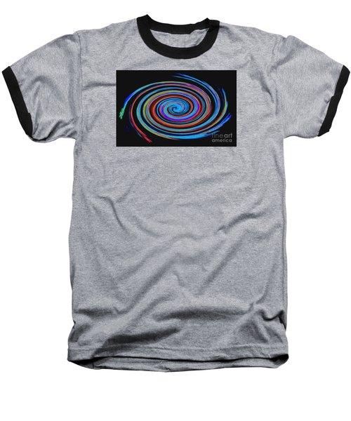Baseball T-Shirt featuring the photograph Spiral Spectrum No. 1 - Modern Art by Merton Allen