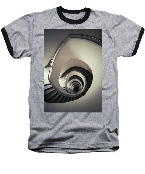 Spiral Staircase In Beige Tones Baseball T-Shirt by Jaroslaw Blaminsky