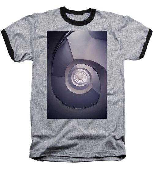 Spiral Staircase In Plum Tones Baseball T-Shirt by Jaroslaw Blaminsky