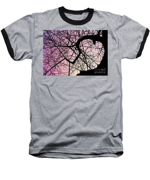 Spiral Tree Baseball T-Shirt