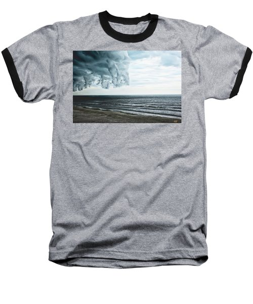 Spiraling Storm Clouds Over Daytona Beach, Florida Baseball T-Shirt