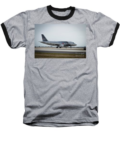 Baseball T-Shirt featuring the photograph Spirit Airlines A319 Airbus N523nk Airplane Art by Reid Callaway