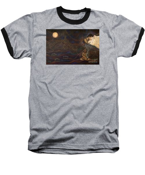 Spirit Bear Baseball T-Shirt by Deborha Kerr