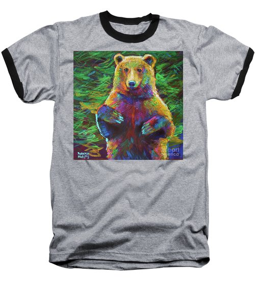 Baseball T-Shirt featuring the painting Spirit Bear by Robert Phelps