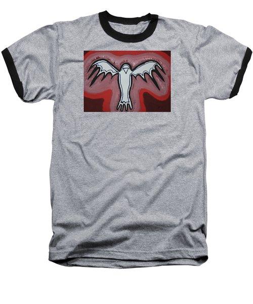 Spirit Crow Original Painting Baseball T-Shirt by Sol Luckman