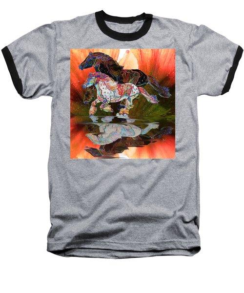Spirit Horse II Leopard Gypsy Vanner Baseball T-Shirt by Michele Avanti