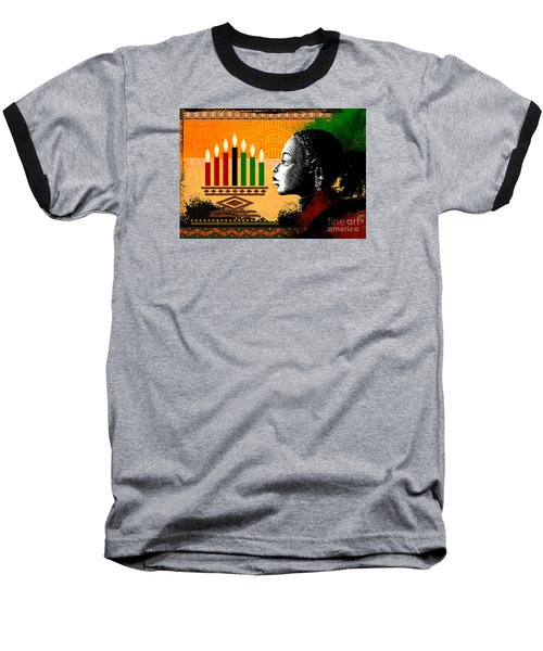 Spirit Of Kwanzaa Baseball T-Shirt