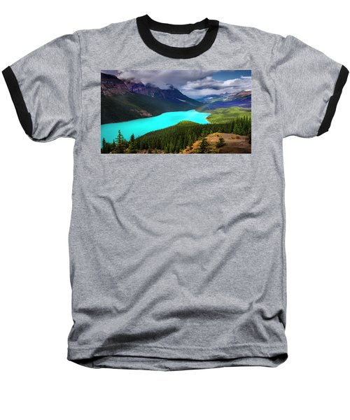 Baseball T-Shirt featuring the photograph  Spirit Of The Wolf by John Poon