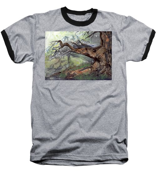 Baseball T-Shirt featuring the painting Spirit Tree by Sherry Shipley