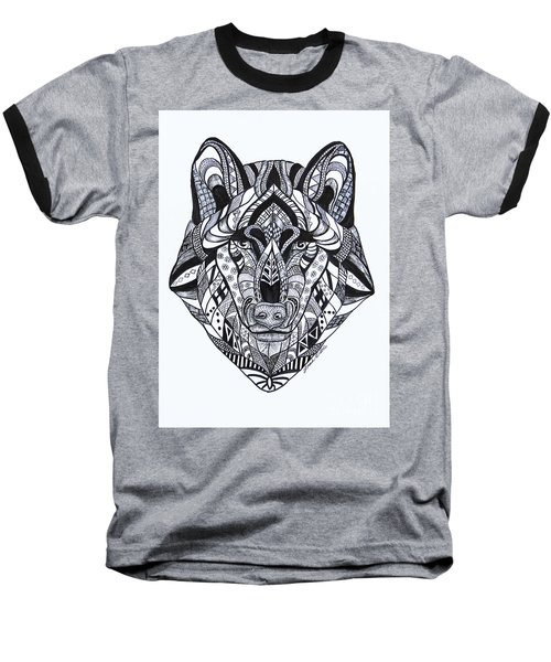 Spirit Wolf Baseball T-Shirt