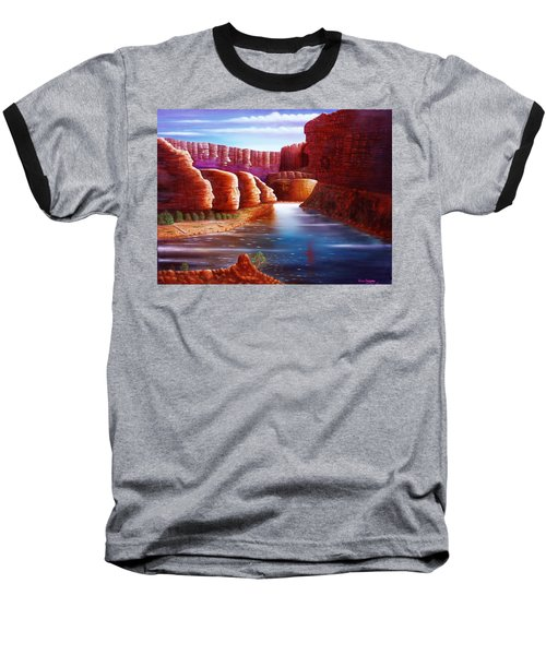 Spirits Of The River Baseball T-Shirt by Gene Gregory