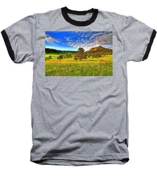 Spiritual Sky Baseball T-Shirt by Scott Mahon