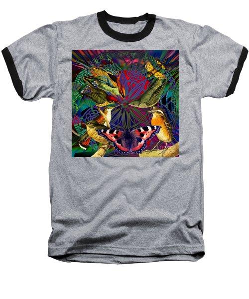 Spiritual Sun Behind The Sun Baseball T-Shirt by Joseph Mosley