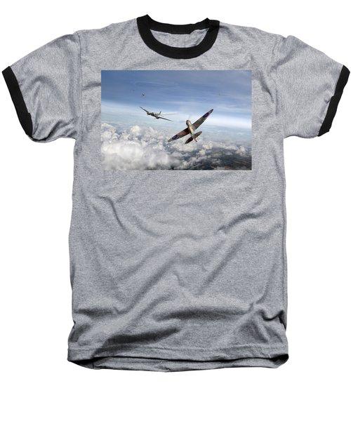 Spitfire Attacking Heinkel Bomber Baseball T-Shirt