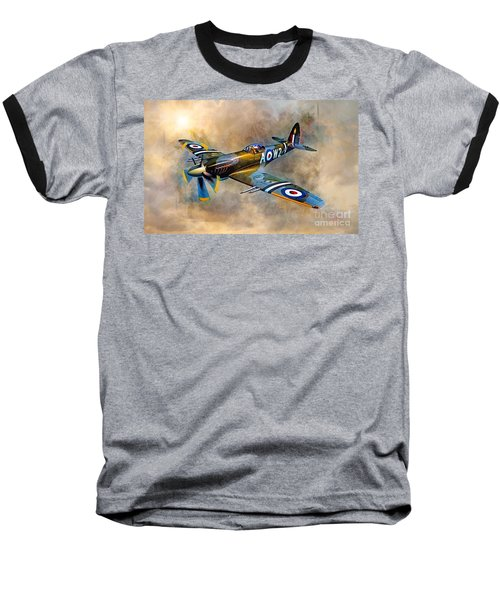 Spitfire Dawn Flight Baseball T-Shirt