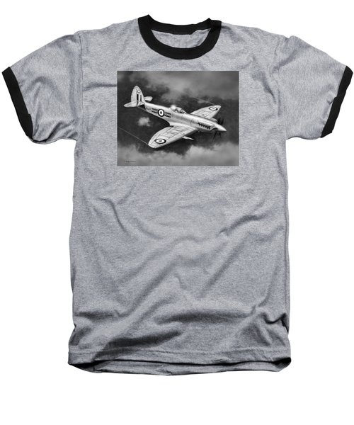Spitfire Mark 22 Baseball T-Shirt by Douglas Castleman
