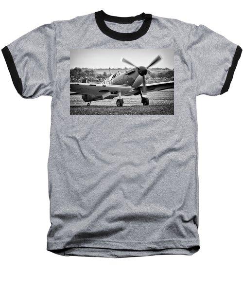 Spitfire Mk1 Baseball T-Shirt by Ian Merton