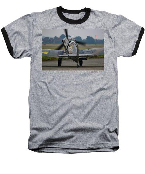 Spitfire Start Up Baseball T-Shirt by Ken Brannen