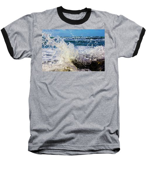Wave Crash And Splash Baseball T-Shirt