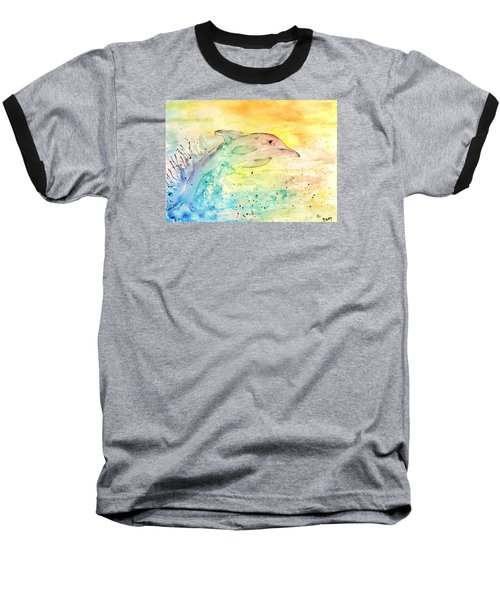Baseball T-Shirt featuring the painting Splash by Denise Tomasura