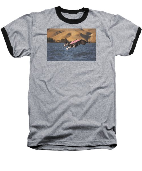 Splash In 3...2...1.... Baseball T-Shirt by Brian Cross