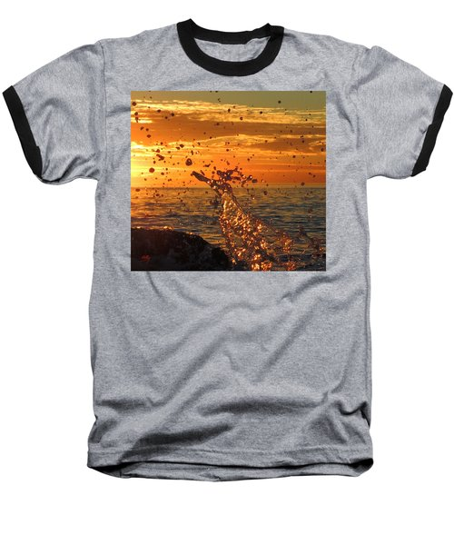 Baseball T-Shirt featuring the photograph Splash by Linda Hollis
