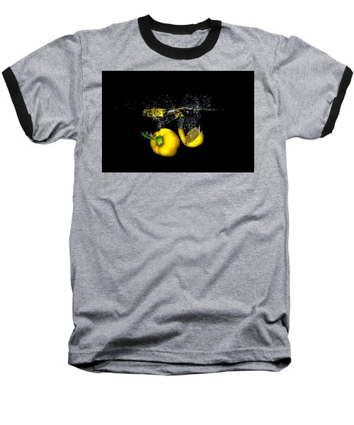 Splash Of  Pepper And Lemon Baseball T-Shirt