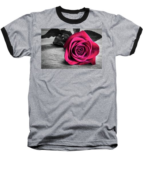 Splash Of Red Rose Baseball T-Shirt