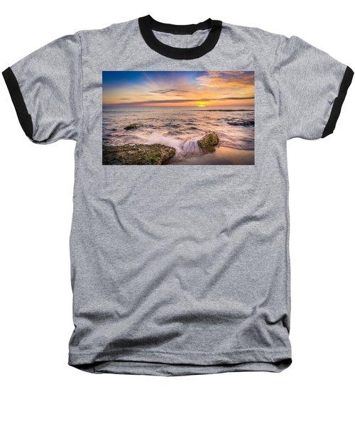Splashing Waves. Baseball T-Shirt
