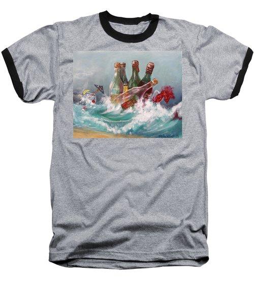 Splattered Wine Baseball T-Shirt