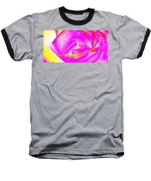 Baseball T-Shirt featuring the mixed media Splendid Rose Abstract by Will Borden