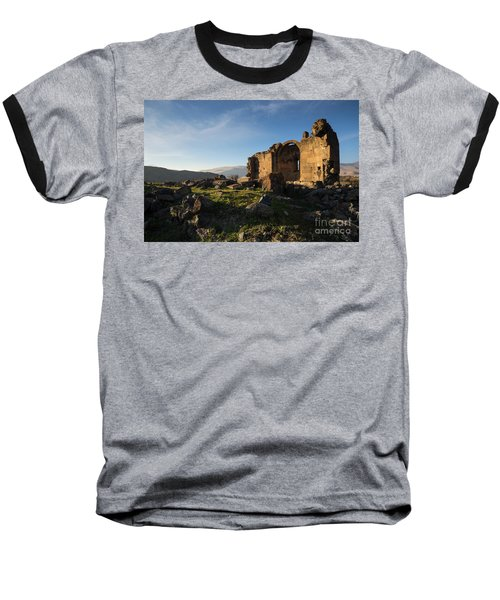 Splendid Ruins Of St. Grigor Church In Karashamb, Armenia Baseball T-Shirt by Gurgen Bakhshetsyan