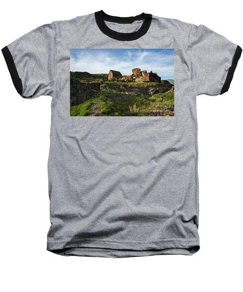 Splendid Ruins Of St. Sargis Monastery In Ushi, Armenia Baseball T-Shirt by Gurgen Bakhshetsyan