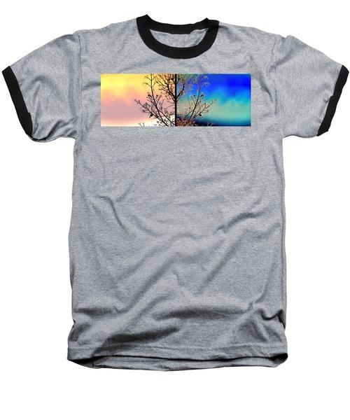 Baseball T-Shirt featuring the digital art Splendid Spring Fusion by Will Borden