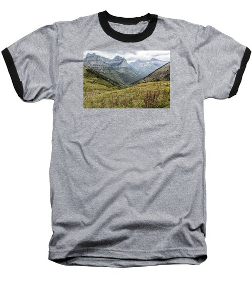Baseball T-Shirt featuring the photograph Splendor From Highline Trail - Glacier by Belinda Greb