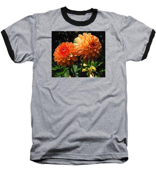 Splendor Of Fall Dahlias  Baseball T-Shirt