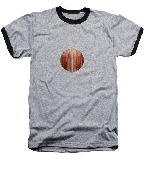 Split Circle Red Baseball T-Shirt by YoPedro