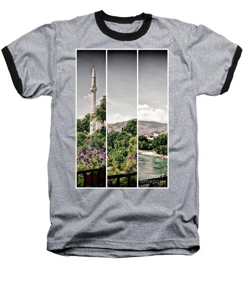 Split Landscape Baseball T-Shirt