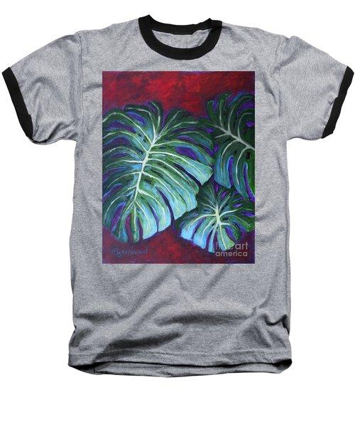 Split Leaf Philodendron Baseball T-Shirt