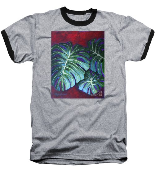 Split Leaf Philodendron Baseball T-Shirt
