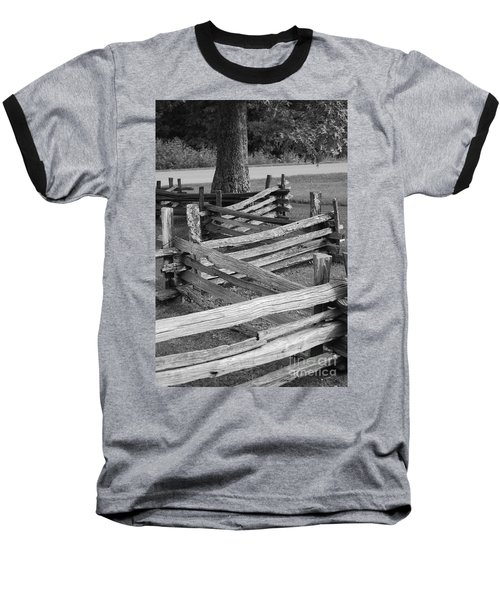 Baseball T-Shirt featuring the photograph Split Rail Fence by Eric Liller