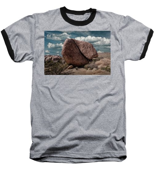 Baseball T-Shirt featuring the photograph Split Rock In Joshua Tree National Park by Randall Nyhof