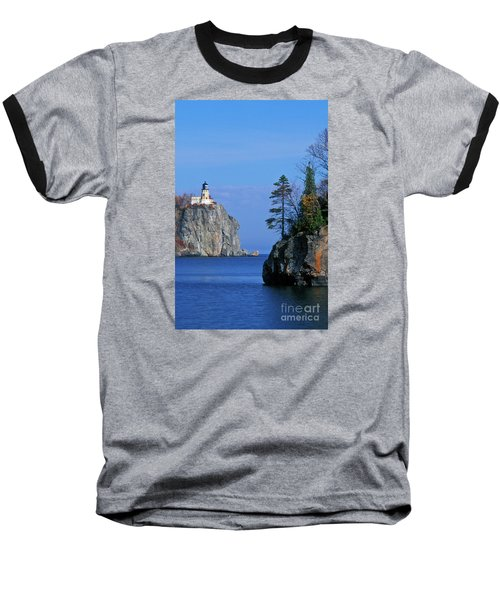 Split Rock Lighthouse - Fs000120 Baseball T-Shirt by Daniel Dempster