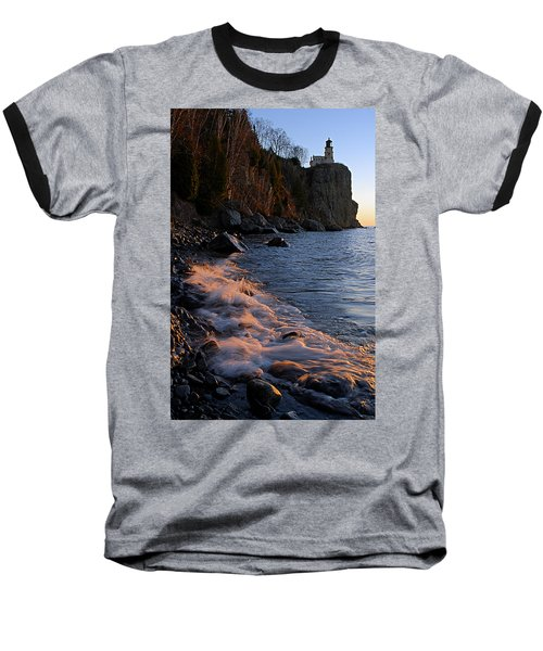 Split Rock Lighthouse At Dawn Baseball T-Shirt
