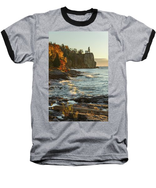 Split Rock Lighthouse At Sunrose Baseball T-Shirt