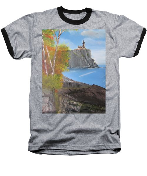 Split Rock Lighthouse Minnesota Baseball T-Shirt