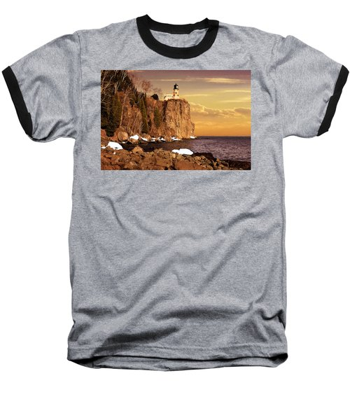 Split Rock Lighthouse Baseball T-Shirt
